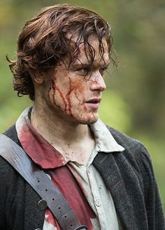 "Jamie (Sam Heughan) in Episode 1 ""Sassenach"" on Starz's Outlander via Outlander Brazil Tumblr"