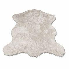 White Polar Bear Pelt Rug