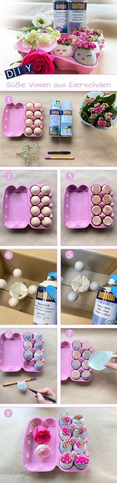 Machst Du Dir auch schon Gedanken über Deine Osterdeko? Bei uns wird schon ganz fleißig kreiert und umgesetzt – zum Beispiel diese süßen Eierschalen-Vasen. Die haben wir mit belton special Beton-Effekt sowie belton free reinweiß lackiert und dann mit Stiften bemalt. Dann noch Wasser und Blümchen rein – fertig. belton Produkte sind erhältlich in führenden Baumärkten wie OBI, Hagebau, Globus, Stabilo und V-Baumarkt. Spray Paint Projects, Diy Spray Paint, Obi, Painting, Free, Egg Shell, Globe, Vases, Thoughts