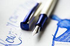 Monteverde Impressa fountain pen in Pearl Silver/Blue