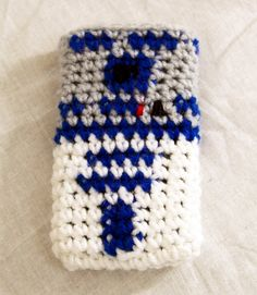 R2D2 Smart Phone Cover Inspired by Star Wars Crochet by GeekinOut, $10.00
