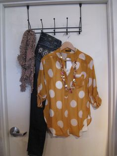 Love the top and I normally hate polkadots-- Mainstream Boutique