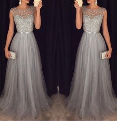 New Arrival Cap Sleeves Beading Prom Dresses,Charming Gray Evening Dresses,A-line Modest Prom Gowns,Long Prom Gowns by lass, $175.00 USD