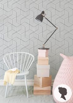 If you are as fickle as me, you too will love the trend for self adhesive wallpaper that is emerging!