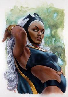 Storm Comic, Storm Marvel, Storm Xmen, Black Comics, Marvel Comics Art, Spiderman, Batman, Black Panther Storm, Adi Granov