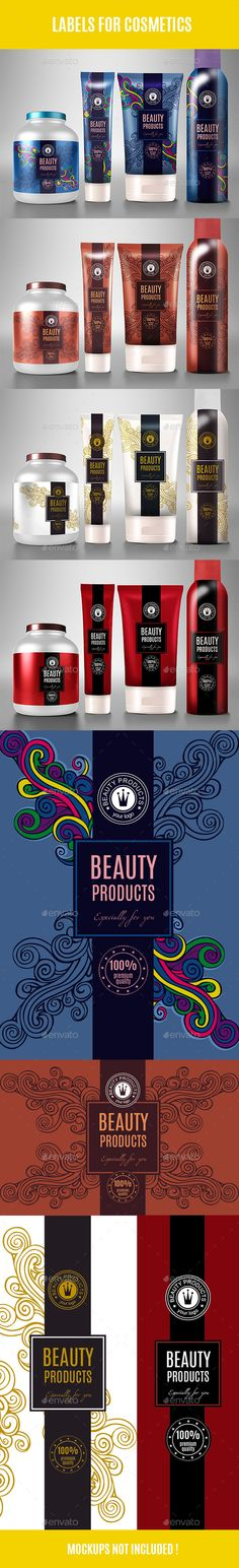 Labels of Cosmetic Products Templates Vector EPS, AI. Download here: http://graphicriver.net/item/labels-of-cosmetic-products/12014136?ref=ksioks
