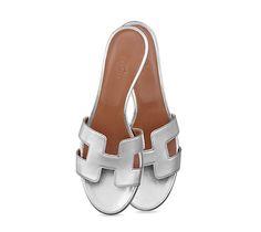 Hermes ladies  sandal in laminated Nappa calfskin 4faa6ea28b