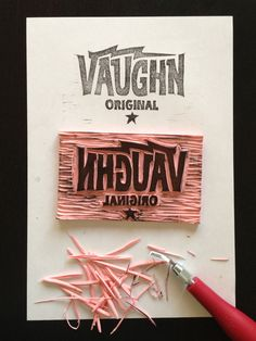 RUBBER STAMP by Aaron von Freter, via Behance - 'I can remember cutting the crap out of my hand due to slipping when carving a stamp'.