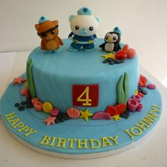 Octonauts birthday cake - very cute!