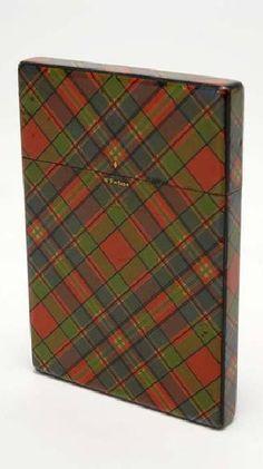 "Tartan Rouge 18/"" Gold Thread Scottish Highlands Burns Night Housse de coussin"