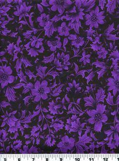Fabric 2163 Purple Floral Foliage on Black Jinny Beyer RJR Sold by 1 2 Yard | eBay