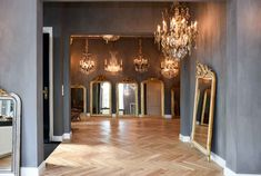Kroonluchter Galerie in Fresco kalkverf Tin Kettle