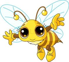 Stock vector of 'Cute Bee flying'