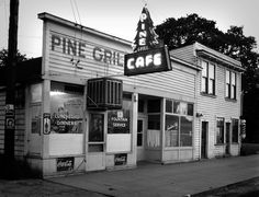 Pine Grill Cafe in Junction City, Oregon. Photographed by F. R. Schultz, 1949.