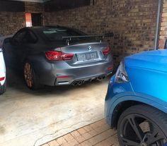 X6 M keeping an eye on a new arrival  M4 GTS looking track ready even in a garage...  Photo via @bernarddevilliers  #ExoticSpotSA #Zero2Turbo #SouthAfrica #BMW #M4GTS #X6M