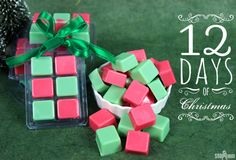 With cheery hues and a warm vanilla scent, these Green and Red Wax Melts are perfectly festive!Wax melts, also known as wax tarts, are a great alternative to candles. Flame free and easy to make, wax melts fill your home with scent in minutes. Simply place the cube on a warmer tray to melt the …