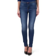 Jean skinny taille haute stoned