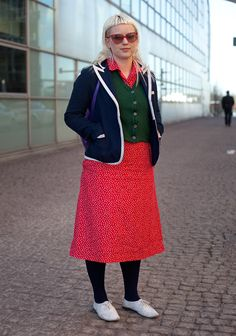 another great helsinki look, i love to see color on people