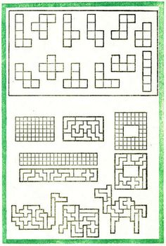 pentomino puzzles--worksheet generator with answers! awesome ...