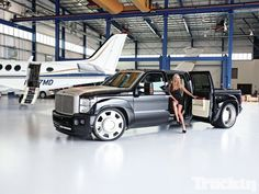 the truck and the girl! Black Mamba Ford Truck by Striker. Dually Trucks, Diesel Trucks, Pickup Trucks, Dodge Diesel, Lowered Trucks, Ford Motor Company, Cool Trucks, Big Trucks, Custom Trucks