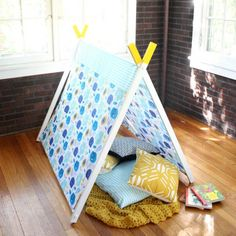 DIY A-Frame Play Tent : 4 Steps (with Pictures) - Instructables A Frame Tent, Diy Frame, Felt Food Patterns, Diy Tent, Teepee Tent, Kids Room Design, Summer Diy, Summer Crafts, Diy Craft Projects