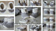 Baby Schuhe Booties 4 Designs  Häkelanleitung