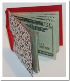 Money Booklet. Clever way to give money as a gift.