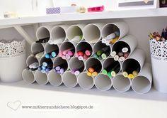 Eine wirklich gute Idee für Stifte und Co - auf, über oder neben dem Schreibtisch!