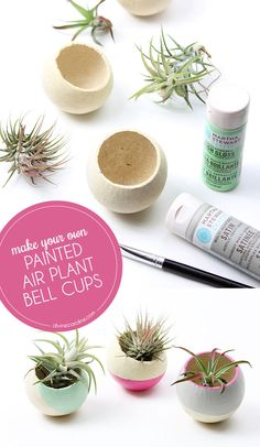 Spruce up your home with painted air paint bell cups. #DIY #Decor