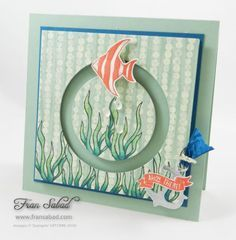 Stampin' Up! Seaside Shore 01, spinner card