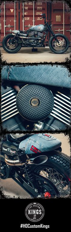 """This #HDStreet 750 was named """"Jeans-Bobber"""". #RollYourOwn 
