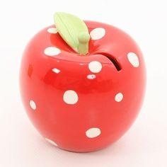 Apple Money Box - Red