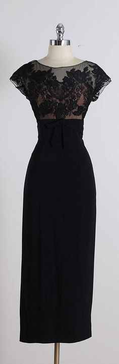 Vintage 1940s Peggy Hunt Illusion Cocktail Dress