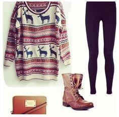 Wonderful sweater & boots
