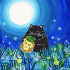 Annya Kai - Black cat catching glow worms :)!