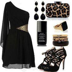 Leopardo y negroo