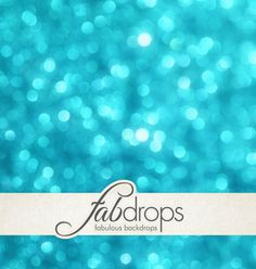 Christmas Backdrop Blue Bokeh Photography Background by FabDrops