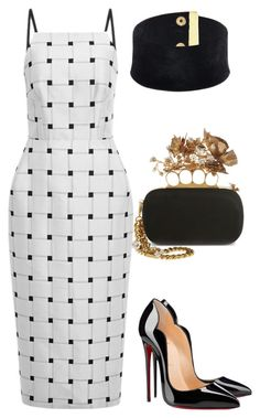 Untitled #1968 by moxieremon on Polyvore featuring polyvore fashion style Josh Goot Christian Louboutin Alexander McQueen clothing
