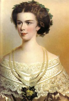 Sissi [Elisabeth] Empress of Austria-Hungary, wife of Emperor Franz Joseph, whom she married in 1854, and mother of crown prince Rudolph. The emperor chose Sissi rather than her older sister Helene, to whom we he had been promised. She perhaps never really conformed to court life, and spent more time away from court as time passed, including a lot of time in Hungary, which she loved passionately. She died from wounds after an assassination attempt by an anarchist in 1898.