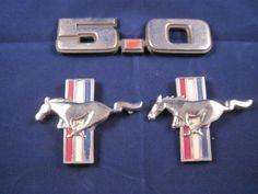 Vintage Mustang Front Fender Running Mustang Emblems