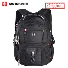 """Swisswin wenger Laptop backpack sw8112 sac a dos High quality 15.6"""" Laptop backpack men's business travel backpack military"""