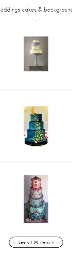 """""""weddings cakes & backgrounds"""" by confusgrk ❤ liked on Polyvore featuring home, kitchen & dining, jewelry, pin jewelry, gold jewellery, aqua blue jewelry, gold jewelry, aqua jewelry, yellow gold jewelry and home decor"""