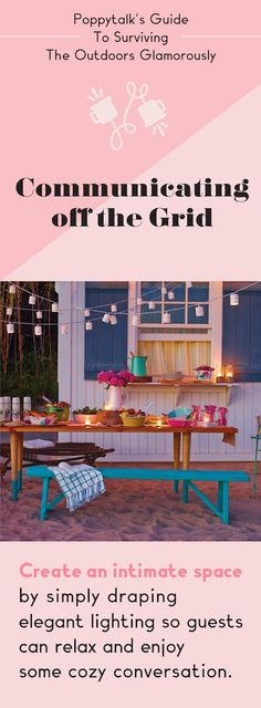 Guide to Surviving The Outdoors Glamorously: Communicating off the Grid bench, outdoor space