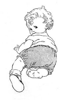 Vintage crawling baby who has lost a shoe ~ so sweet ~ ca. 1920s