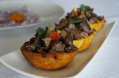 Asun- smoked goat in plantain shell. Nigerian food
