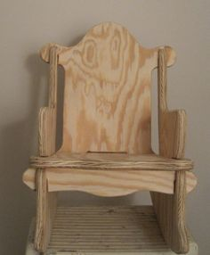 Solid Wood Child's Rocking Chair   Unfinished by ITIZWHATITIZ, $50.00