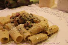 La cucina di Pattylou: Rigatoni alla crema di carciofi