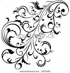 stock vector : Abstract tattoo style design element.