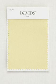 Wedding Dress Canary Fabric Swatch - Satin (White)