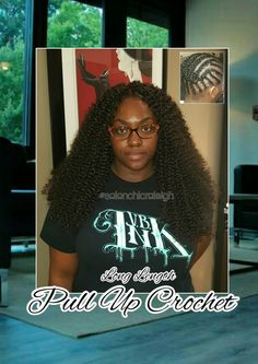 Crochet Hair Pulled Up : Long Length Crochet Braids Pull up style for Bun or Ponytail at # ...